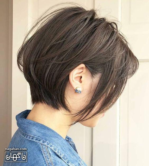 مدل مو کوتاه تیره