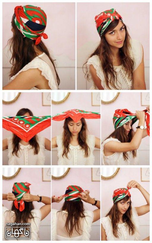 جدیدترین مدل های تل و هدبند برای آرایش مو با روسری دخترانه