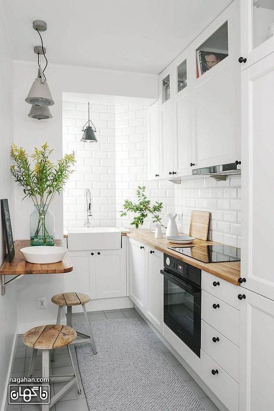مدل کابیت و بین کابینتی برای آشپزخانه کوچک