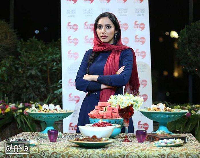 عکس شب یلدای منا فرجاد - بازیگر