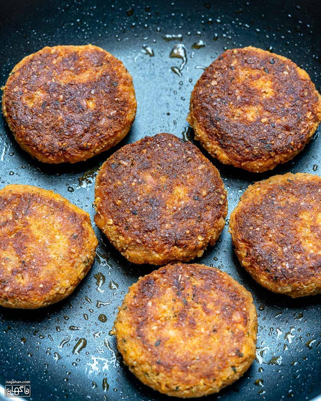 طرز تهیه همبرگر سالمون سایت ناگهان