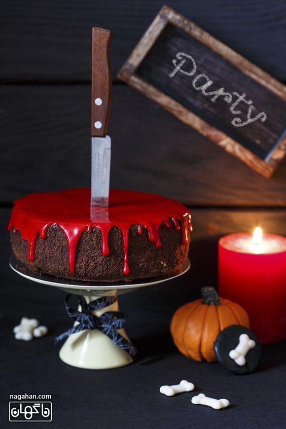 کیک ترسناک خون آلود برای هالوین