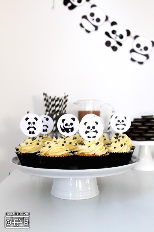 کاپ کیک تم تولد پاندا