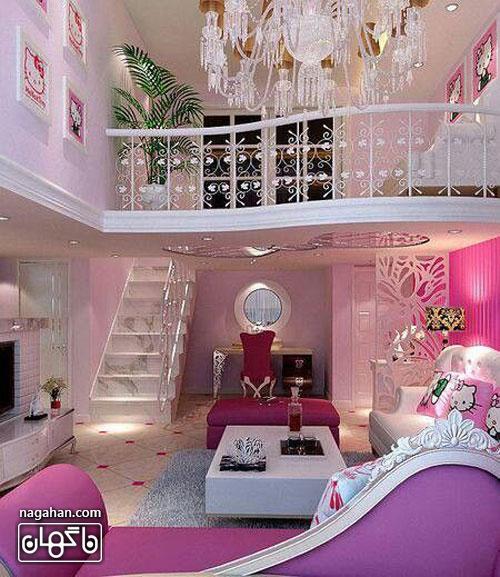 عکس اتاق کودک و مدل تخت طرح پرنسس- اتاق دخترانه