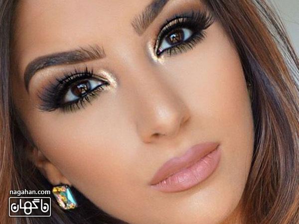 مدل ابرو و مو ، آرایش صورت و چشم ویژه مهمانی و عروسی
