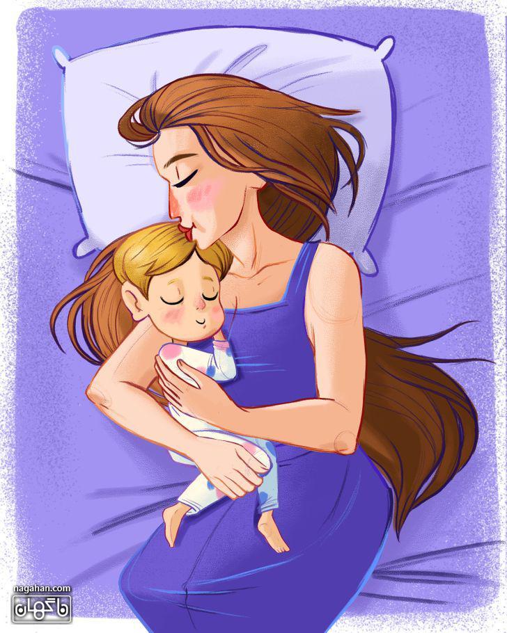 6-کودک خود را به رختخواب ببرید.