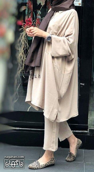 مدل مانتو خنک تابستانه با شلوار پارچه ای