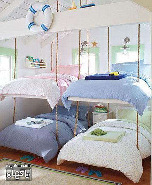 عکس اتاق کودک و مدل تخت ملوان دریایی - اتاقپسرانه و دخترانه