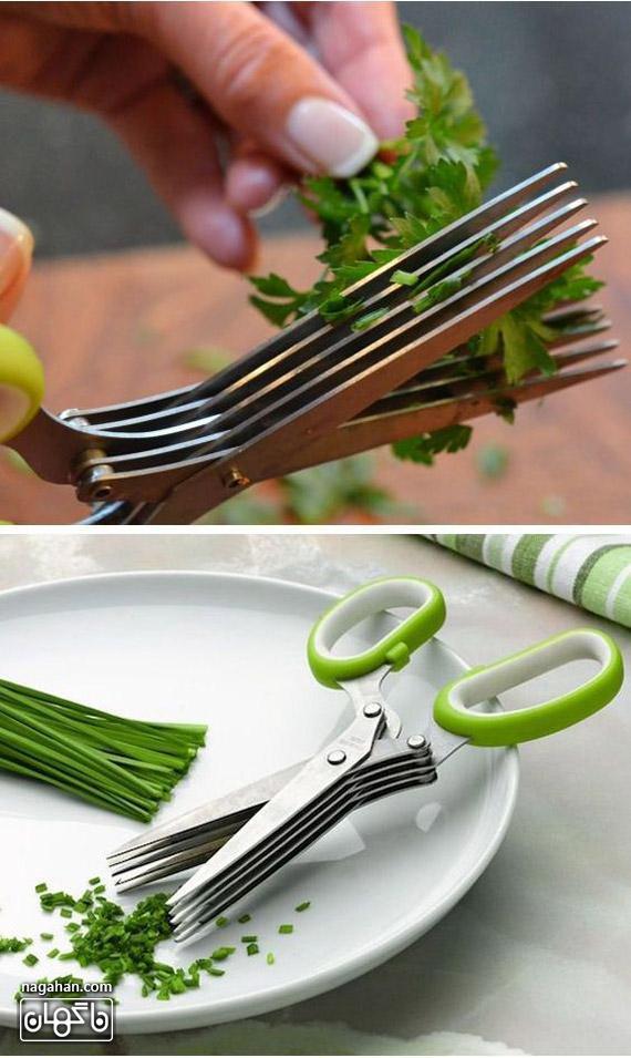 عکس از سبزی خرد کنه دستی - قیچی سبزی خرد کن