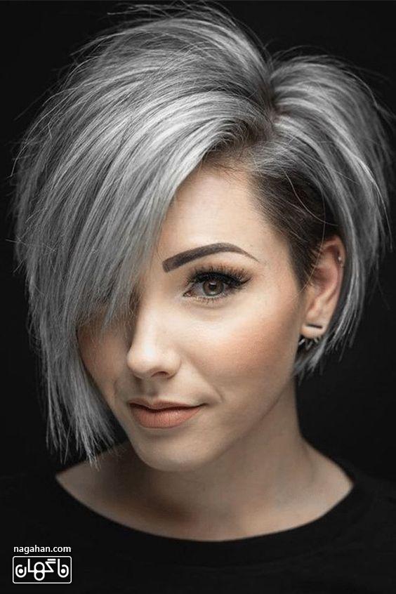 مدل مو کوتاه جذاب و رنگ مو جو گندمی