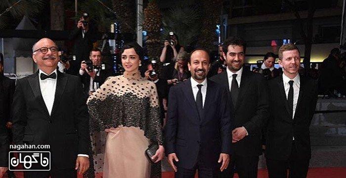 ترانه علیذوستی ، شهاب حسینی ، اصغر فرهادی _ فرش قرمز کن- فیلم فروشنده