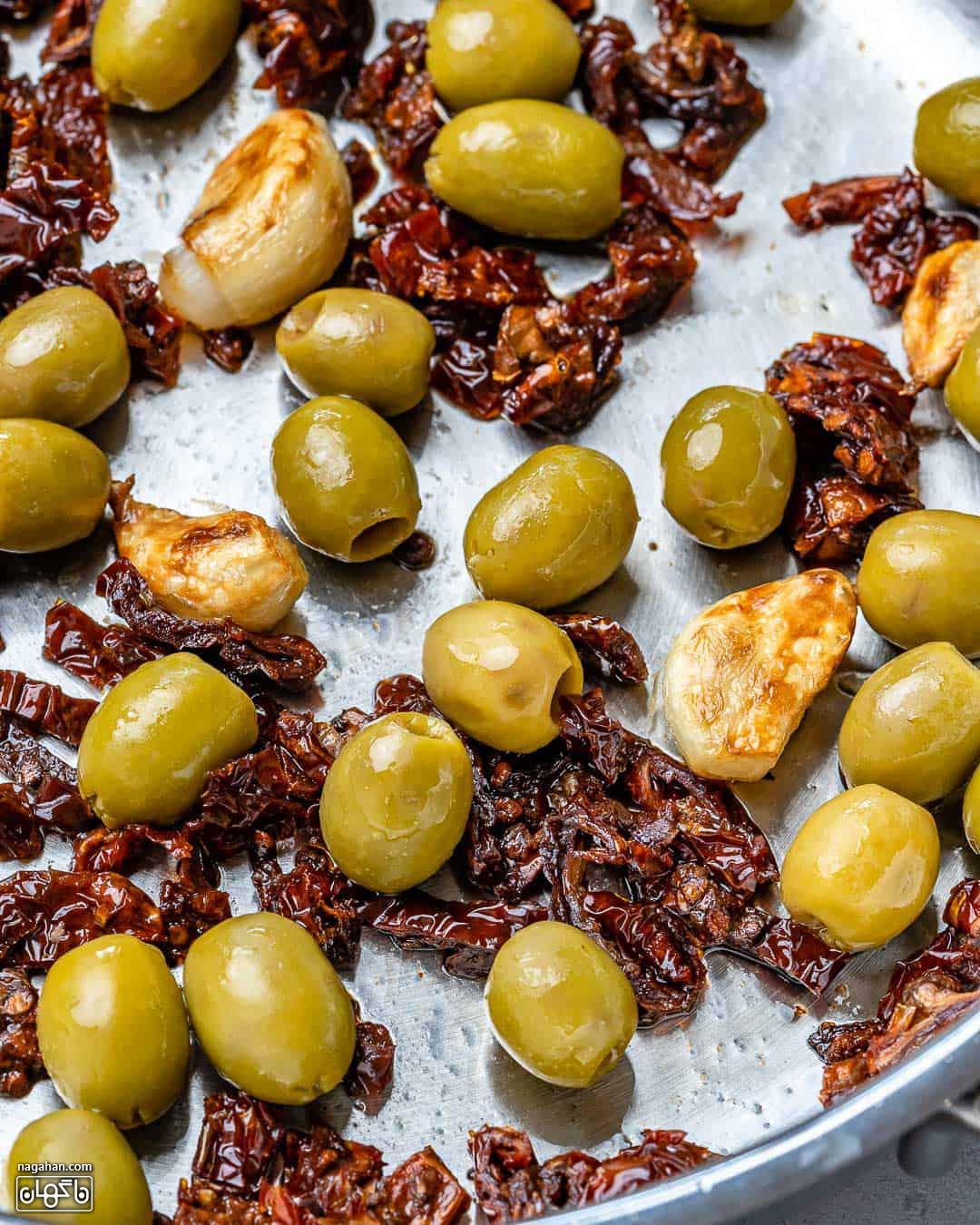 مواد لازم ماهی قزل آلا خامه ای توسکانی ایتالیایی 2