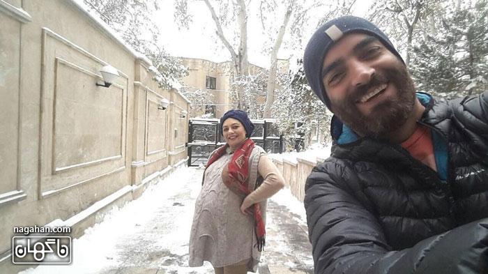 عکس یکتا ناصر و منوچهر هادی در برف