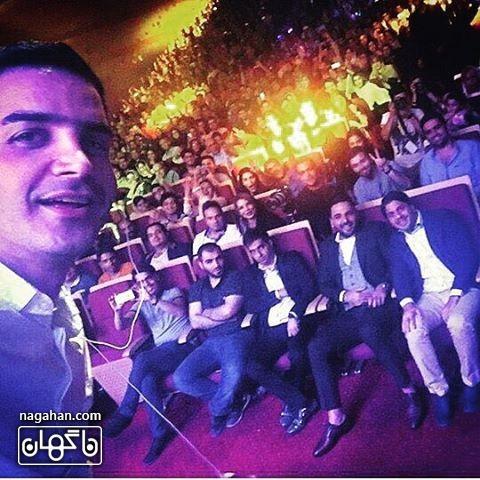 سلفی محسن یگانه و احسان علیخانی در کنسرت