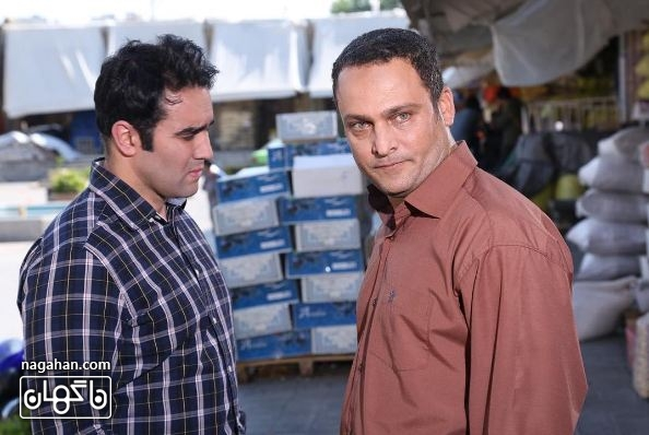 حسين يارى و پوريا پور سرخ در نمايى از سريال برادر
