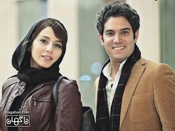 امیر علی نبویان و همسرش