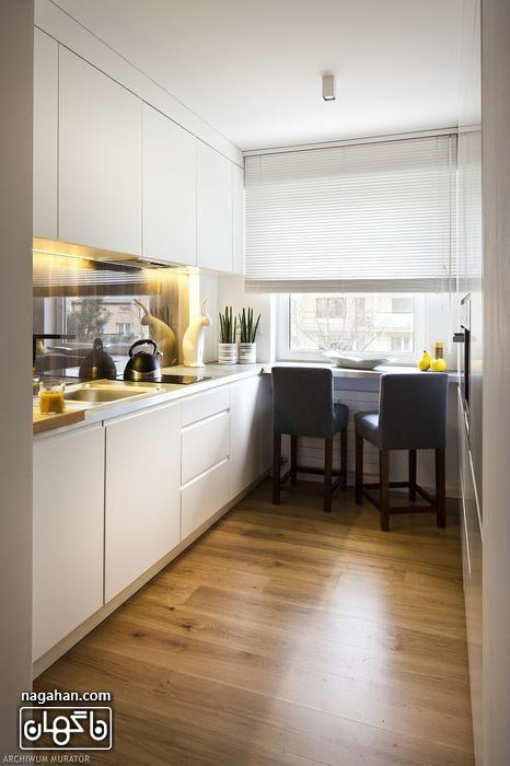 طراحی آشپزخانه کوچک شیک