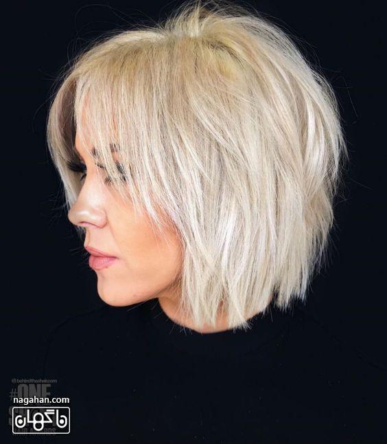 مدل مو کوتاه بلوند و دکلره
