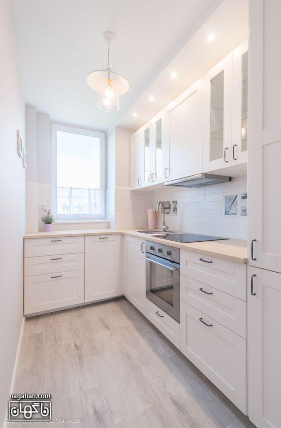 طراحی شیک و مدرن آشپزخانه کوچک