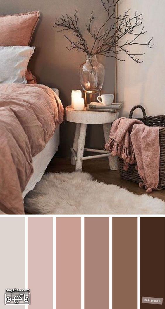 دکوراسیون مدرن اتاق خواب با طیف رنگ صورتی و وسایل شیک و مدرن