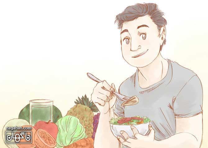 تغذیه کلی و رژیم غذایی برای لاغری صورت