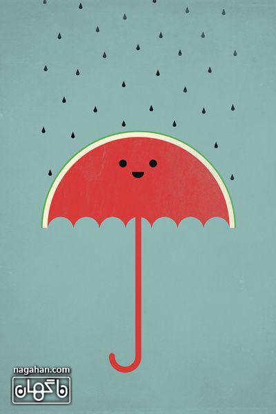 پروفایل و والپیپر شب یلدا چتر هندوانه ای