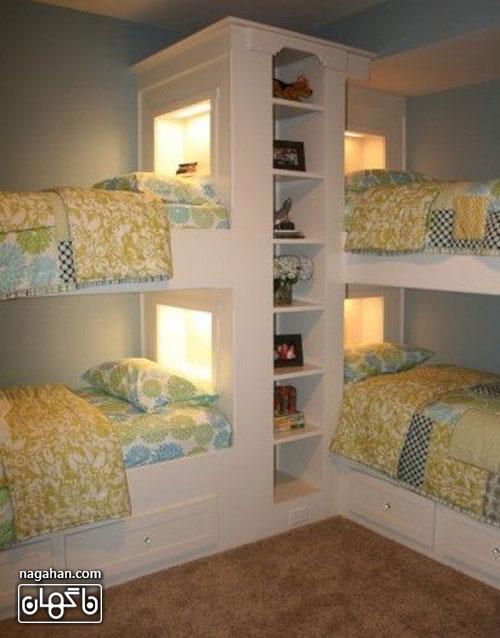 عکس اتاق کودک و مدل تخت - اتاق دخترانه و پسرانه مخصوص اتاق های کوچک