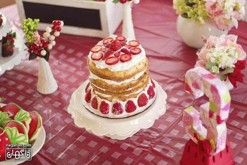 کیک تم تولد