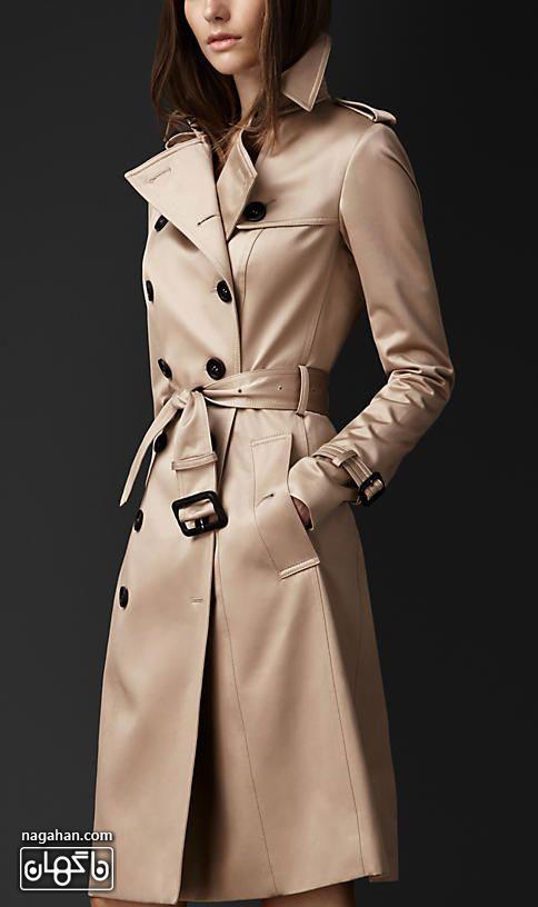 کالکشن جدید مدل پالتو دخترانه و زنانه 95 چرم رنگ کرم