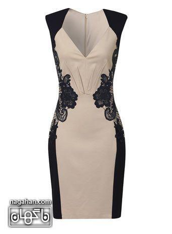 مدل پیراهن گیپور دار مخصوص جشن تولد، عروسی و مهمانی | کالکشن پیراهن های مجلسی ویژه شیک پوشان 2016