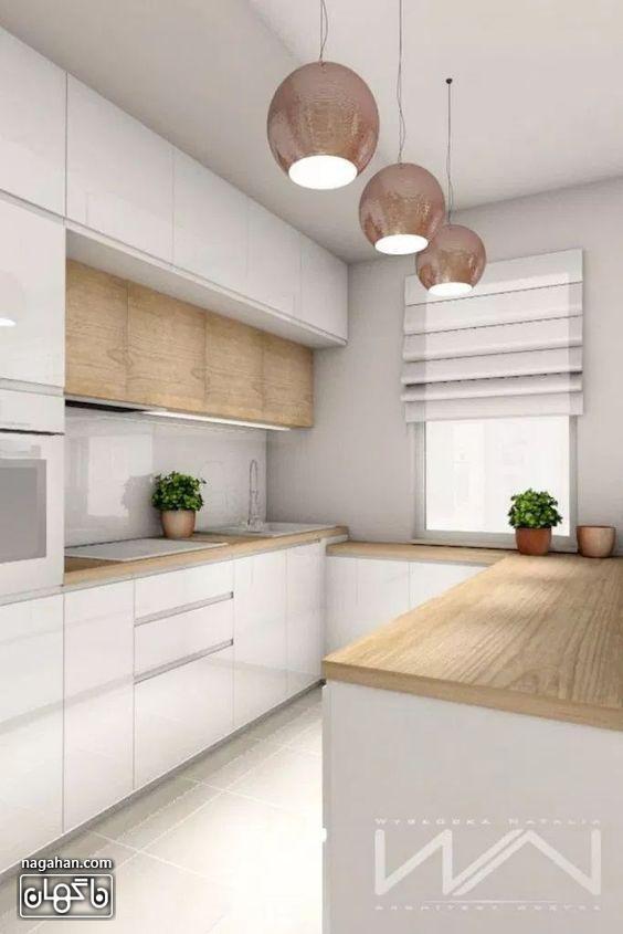 دکوراسیون آشپزخانه کوچک شیک