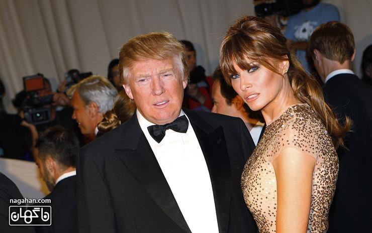 دونالد ترامپ و همسرش ملینا ترامپ