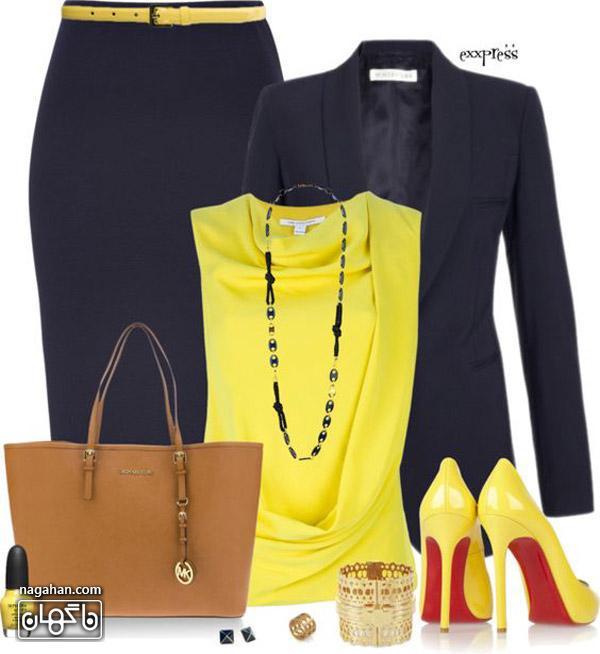 مدل لباس شیک لیمویی
