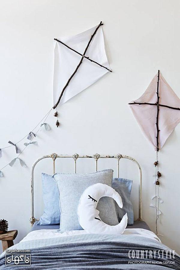 عکس اتاق کودک و مدل تخت طرح بادبادک - اتاق دخترانه و پسرانه