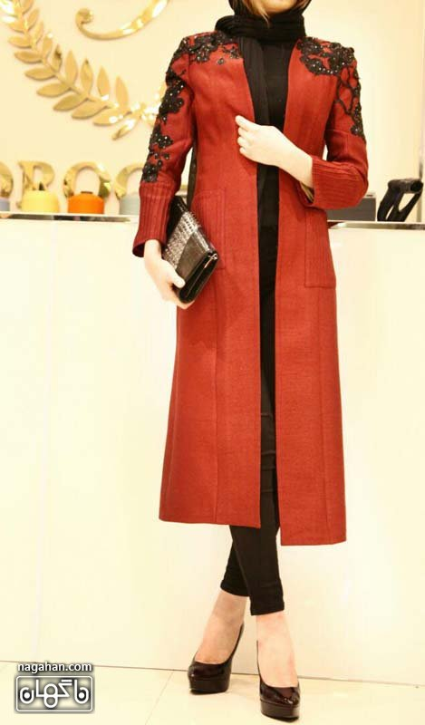 - مدل مانتو رنگ قرمز