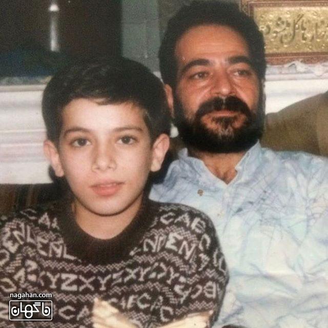 عکس دیده نشده امیر تتلو در سن نوجوانی به همراه پدرش