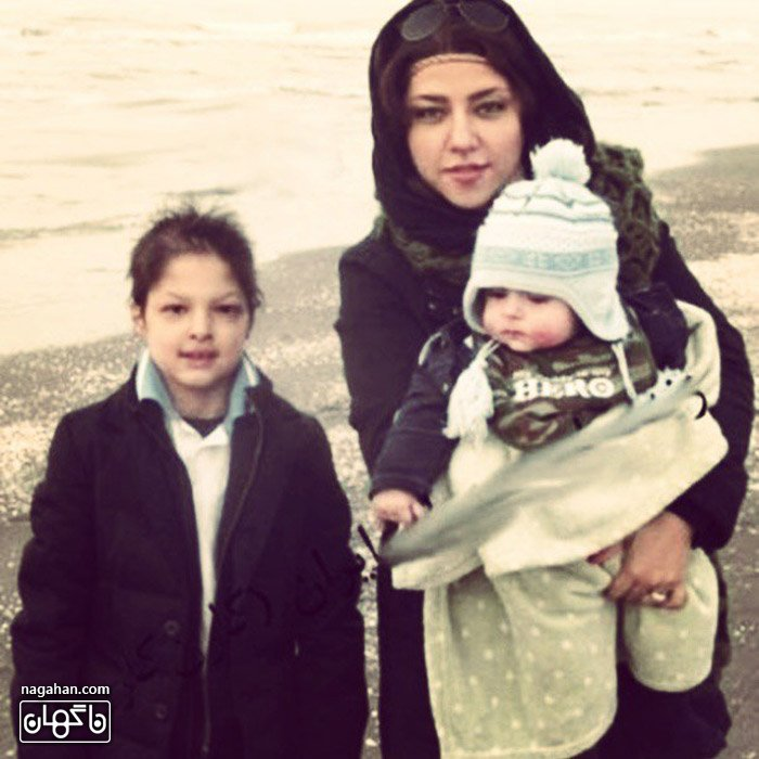عکس همسر و کودکی دو پسر شهاب حسینی