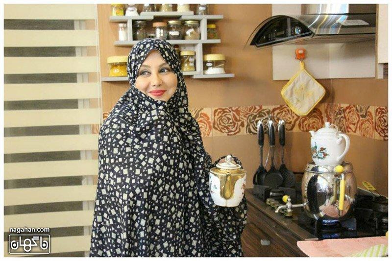 عکس با حجاب و چادر بهنوش بختیاری
