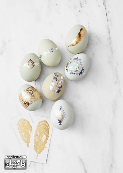 تزیین تخم مرغ رنگی هفت سین نوروز