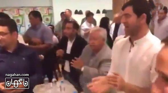 عکس حضور پیشکسوتان فوتبالی در جشن تولد احمدرضا عابدزاده - کریم باقری