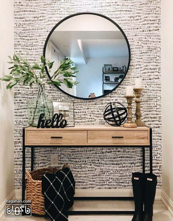 میز و آینه کنسول شیک و ساده