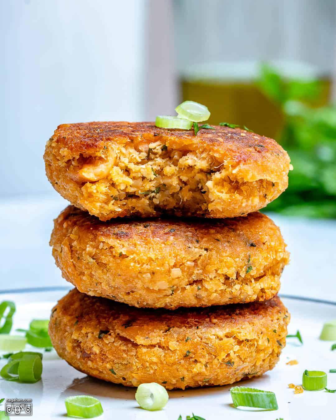 طرز تهیه همبرگر سالمون-1