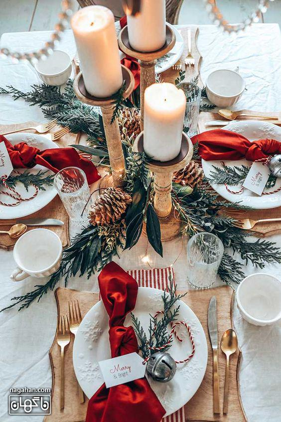 جدیدترین ایده چیدن میز شام کریسمس 2021