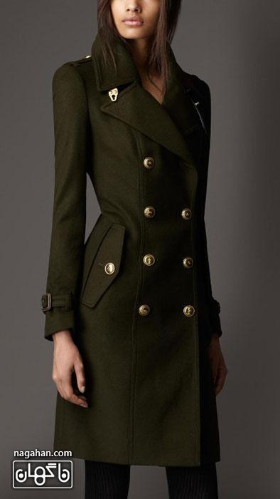 کالکشن جدید مدل پالتو دخترانه و زنانه 95 رنگ سبز جلبکی
