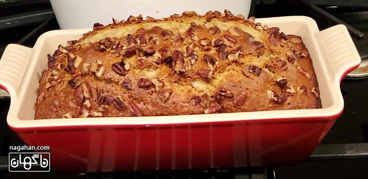کیک موز آسان بدون استفاده از همزن برقی