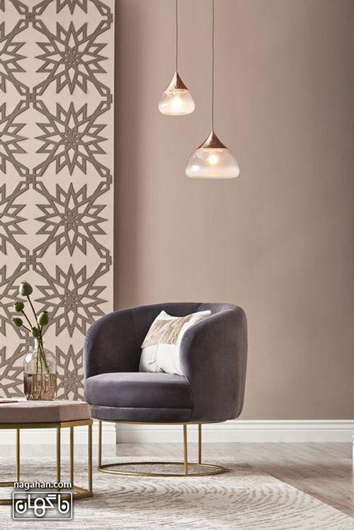 چراغ آویز ساده و زیبا برای اتاق نشیمن