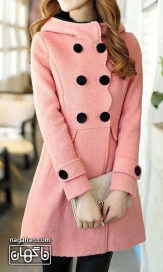 کالکشن جدید مدل پالتو دخترانه و زنانه 95 رنگ صورتی