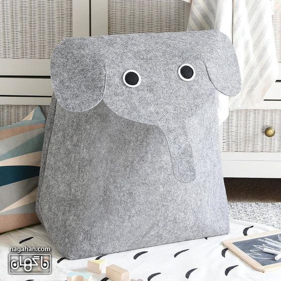 آموزش کیف کوله پشتی طرح فیل