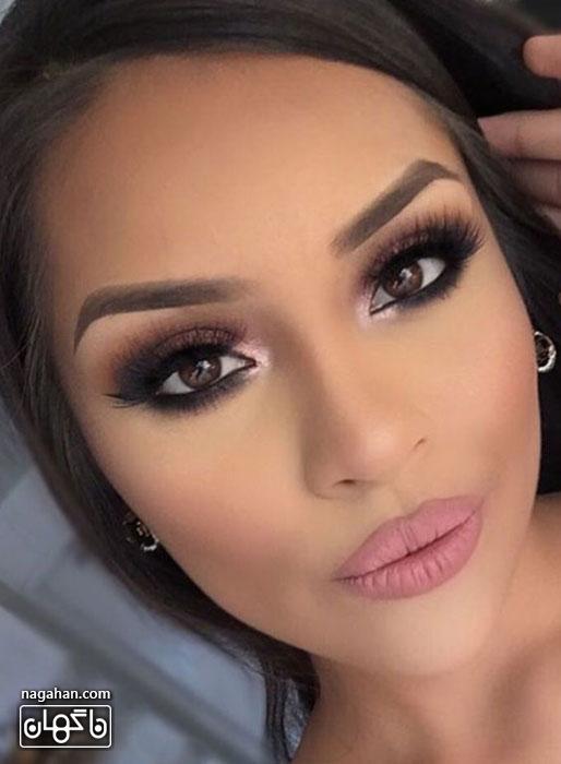 عکسمدل آرایش صورت ، آرایش ابرو و آرایش چشم عروس | مدل رنگ مو ، مش و آمره 2017 5