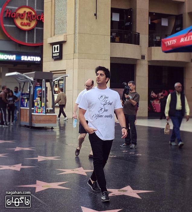 عکسفرزاد فرزین در هالیوود - جدیدترین عکس فرزاد فرزین در آمریکا 2016